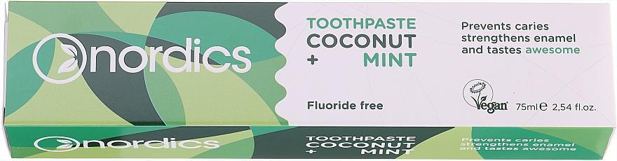 """Fogkrém """"Kókusz és menta"""" - Nordics Coconut + Mint Toothpaste"""
