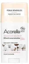 Parfüm, Parfüméria, kozmetikum Izzadásgátló-stift - Acorelle Deodorant Stick Gel Cotton Powder
