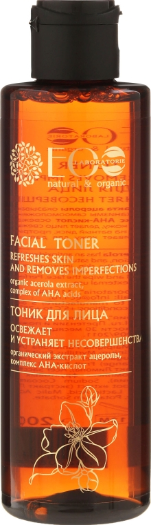 Arcfrissítő tonik AHA-savval - ECO Laboratorie Facial Toner