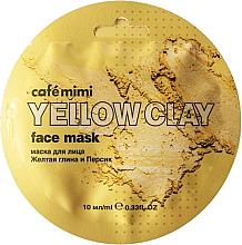 """Parfüm, Parfüméria, kozmetikum Arcmaszk """"Sárga agyag és őszibarack"""" - Cafe Mimi Face Mask"""