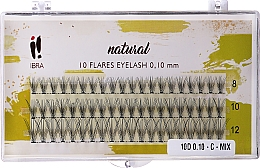Parfüm, Parfüméria, kozmetikum Műszempilla, tincses C Mix - Ibra 10 Flares Eyelash Knot Free Naturals C Mix