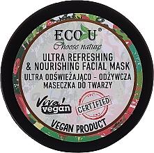 Parfüm, Parfüméria, kozmetikum Frissítő és tápláló arcmaszk - Eco U Choose Nature Ultra Refreshing&Nourishing Face Mask