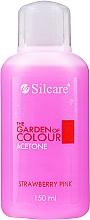 "Parfüm, Parfüméria, kozmetikum Körömlakklemosó folyadék ""Eper"" - Silcare The Garden Of Colour Aceton Strawberry Pink"