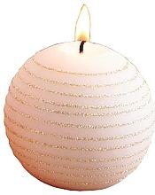 Parfüm, Parfüméria, kozmetikum Dekoratív gyertya, rózsaszín-arany, gömb, 10 cm - Artman Andalo