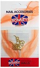 Parfüm, Parfüméria, kozmetikum Körömdíszítő lánc, 00375, arany - Ronney Professional