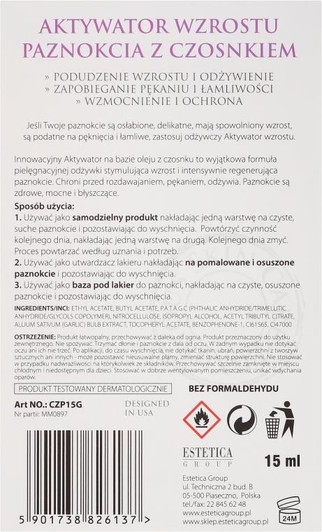 Körömnövekedés serkentő lakk - Czyste Piękno Garlic Nail Growth Activator — fotó N3