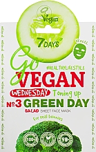 "Parfüm, Parfüméria, kozmetikum Szövet arcmaszk ""Green Day"" - 7 Days Go Vegan Wednesday Green Day"