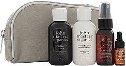 Parfüm, Parfüméria, kozmetikum Szett - John Masters Organics Essential Travel Kit For Dry Hair (sh/60ml + cond/60ml + volumizer/30ml + oil/3ml + bag)