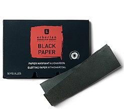 Parfüm, Parfüméria, kozmetikum Fekete matt törlőkendő szénnel - Erborian Blotting Paper With Charcoal