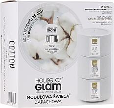 Parfüm, Parfüméria, kozmetikum Illatosított gyertya - House of Glam Calmig Clean Cotton Candle