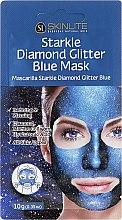 Parfüm, Parfüméria, kozmetikum Hámlasztó arcmaszk a csillogó bőrért - Skinlite Starkle Diamond Glitter Blue Mask