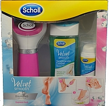Parfüm, Parfüméria, kozmetikum Szett - Scholl Velvet Smooth Diamond Set (foot/bath/150ml+foot/serum/30ml+roller/1pcs)