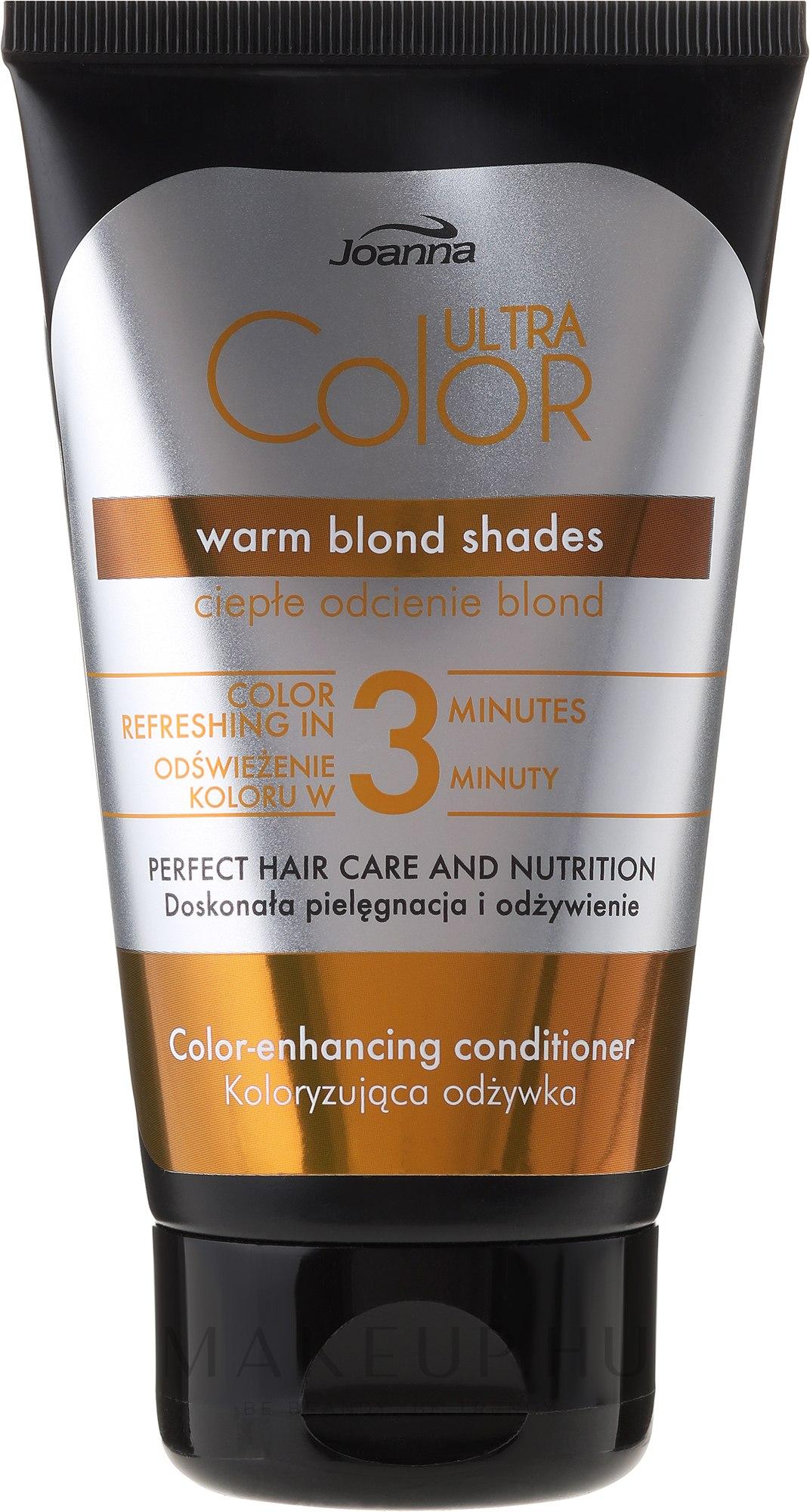 Tonizáló hajkondicionáló - Joanna Ultra Color System Warm Blonde Shades — fotó 100 g