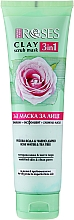 Parfüm, Parfüméria, kozmetikum Agyag arcmaszk rózsavízzel és teafával - Nature Of Agiva Roses Green Clay 3 In 1 Scrub Mask