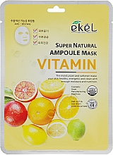Parfüm, Parfüméria, kozmetikum Szövetmaszk vitamin komplexummal - Ekel Super Natural Ampoule Mask Vitamin