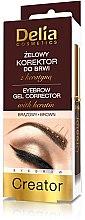 Parfüm, Parfüméria, kozmetikum Géles szemöldökformázó korrektor 4 az 1-ben - Delia Cosmetics Eyebrow Gel