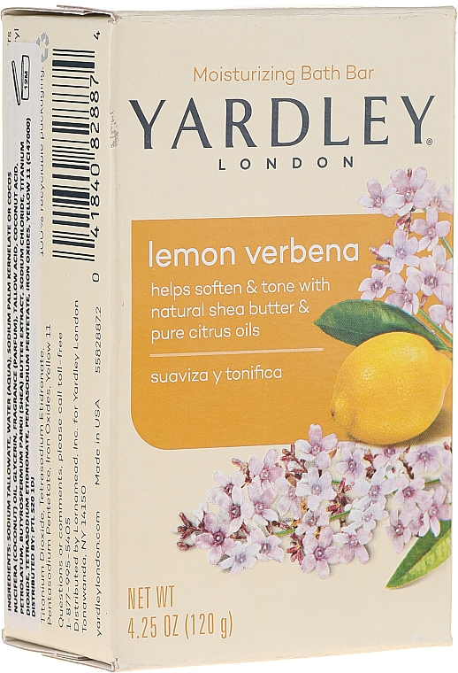 "Szappan ""Citrom és vasfű"" - Yardley Lemon Verbena With Shea Butter Soap"