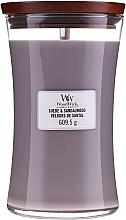 Parfüm, Parfüméria, kozmetikum Illatgyertya pohárban - WoodWick Suede & Sandalwood Candle