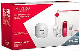 Parfüm, Parfüméria, kozmetikum Készlet - Shiseido Essential Energy (cr/50ml + foam/5ml + softener/7ml + conc/10ml + eye/cr/5ml + bag/1)