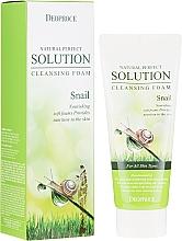 Parfüm, Parfüméria, kozmetikum Arclemosó hab csiga mucinnal - Deoproce Natural Perfect Solution Cleansing Foam Snail
