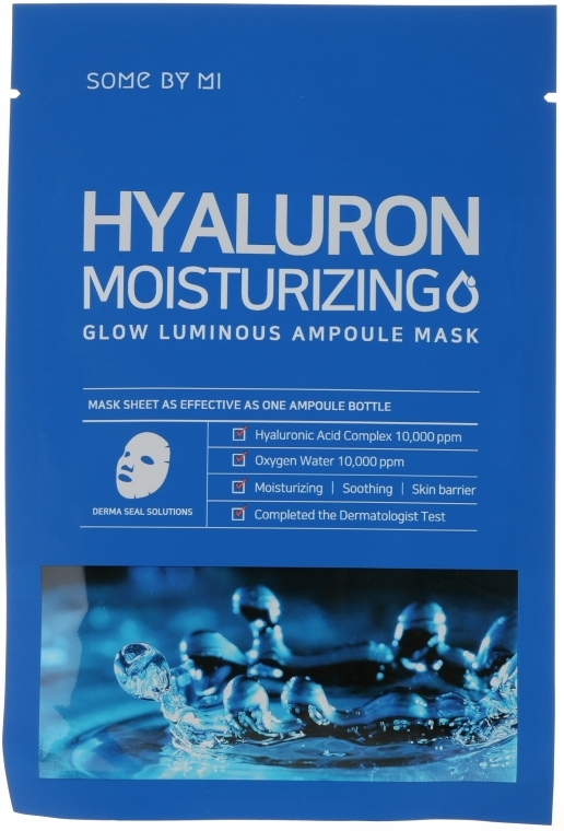 Hiauloronsavas arcmaszk - Some By Mi Hyaluron Moisturizing Glow Luminous Ampoule Mask