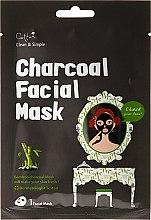 Parfüm, Parfüméria, kozmetikum Bambusz faszén szövetmaszk - Cettua Charcoal Facial Mask
