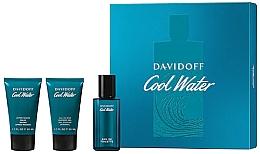 Parfüm, Parfüméria, kozmetikum Davidoff Cool Water - Szett (edt/40 ml + sh/gel/50 ml + ash/balm/50 ml)