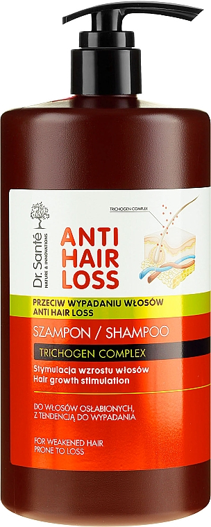 Sampon pumpával hajhullás ellen - Dr. Sante Anti Hair Loss Shampoo