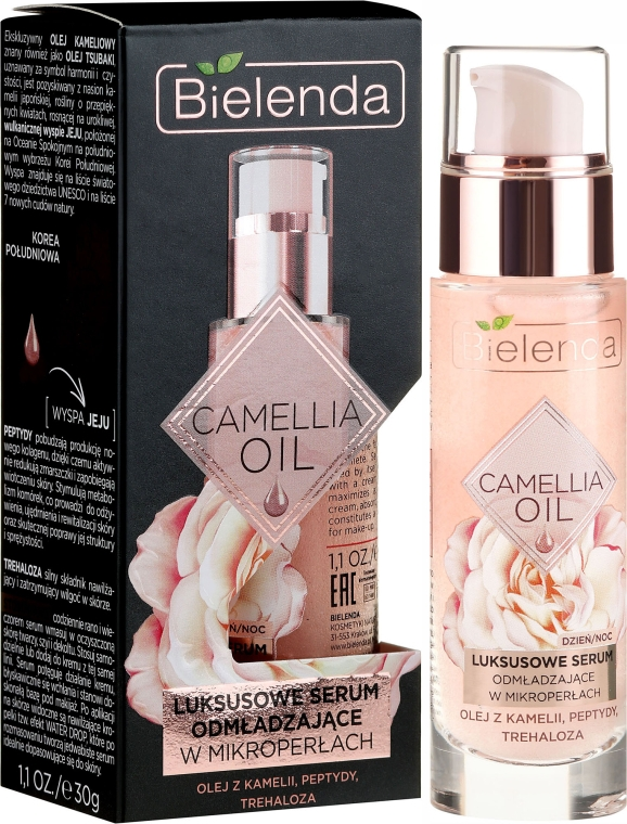 Ránctalanító arcszérum - Bielenda Camellia Oil Luxurious Rejuvenating Serum