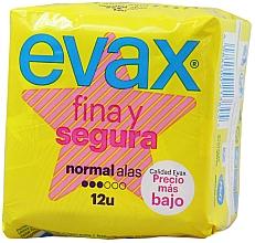 "Parfüm, Parfüméria, kozmetikum Tisztasági betét ""Normal"", szárnyas, 12db - Evax Fina & Segura"