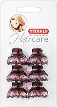 Parfüm, Parfüméria, kozmetikum Hajcsat, kicsi, 6 db, 3 cm, barna - Titania