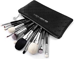 Parfüm, Parfüméria, kozmetikum Sminkecset készlet, 12 db - Eigshow Luxe Series Classic Makeup Brush Kit Bright Silver