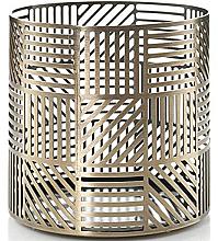Parfüm, Parfüméria, kozmetikum Gyertyatartó - Yankee Candle Crosshatch Brass Jar Holder
