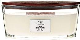 Parfüm, Parfüméria, kozmetikum Illatosított gyertya pohárban - Woodwick Hearthwick Flame Ellipse Candle Linen Linge Propre