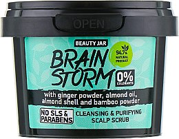 "Fejbőrradír ""Brain Storm"" - Beauty Jar Cleansing & Purifying Scalp Scrub — fotó N2"