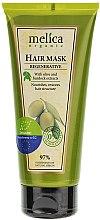 Parfüm, Parfüméria, kozmetikum Revitalizáló hajmaszk bojtorján és olajbogyó kivonattal - Melica Organic Regenerative Hair Mask