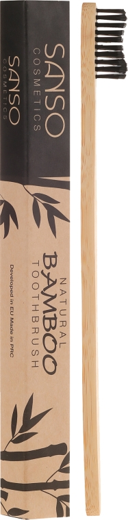Bambusz fogkefe - Sanso Cosmetics Natural Bamboo Toothbrushes