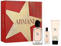 Parfüm, Parfüméria, kozmetikum Giorgio Armani Si - Szett (edp/100ml + b/lot/75ml + edp/15ml)