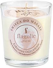 """Parfüm, Parfüméria, kozmetikum Masszázs gyertya """"Tápláló kókuszdió"""" üveg pohárban - Flagolie Coconut Nutrition Massage Candle"""