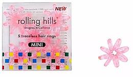 Parfüm, Parfüméria, kozmetikum Hajgumi, áttetsző rózsaszín - Rolling Hills 5 Traceless Hair Rings Mini Transparent Pink