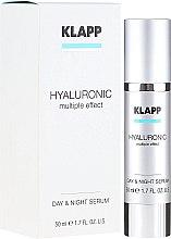 """Parfüm, Parfüméria, kozmetikum Arcszérum """"Hyaluron sav"""" - Klapp Hyaluronic Multiple Effect Day & Night Serum"""
