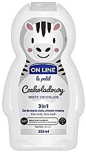 """Parfüm, Parfüméria, kozmetikum Test- arc- és hajmosó szer """"Fehér csokoládé"""" - On Line Le Petit White Chocolate 3 In 1 Hair Body Face Wash"""