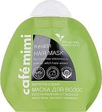 """Parfüm, Parfüméria, kozmetikum Keratin maszk """"Helyreállító, fényes és sima haj"""" - Cafe Mimi Keratin Hair Mask"""