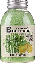 """Parfüm, Parfüméria, kozmetikum Bőrpuhító fürdőgolyó """"Bambusz és citrom"""" - Fergio Bellaro Bamboo and Lemon Bath Caviar"""