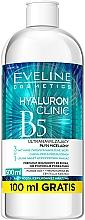 Parfüm, Parfüméria, kozmetikum Ultra-hidratáló micellás víz 3 az 1-ben - Eveline Cosmetics Hyaluron Clinic B5