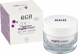 Parfüm, Parfüméria, kozmetikum Antioxidáns éjszakai arckrém hialuronsavval - Eco Cosmetics Antioxidant Night Cream With OPC Q10 & Hyaluron