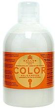 Parfüm, Parfüméria, kozmetikum Sampon festett, száraz hajra - Kallos Cosmetics Color Shampoo With Linseed Oil