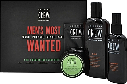 Parfüm, Parfüméria, kozmetikum Szett - American Crew Men's Most Wanted (shm/250ml + cr/50g + spray/100ml + balm/7.4ml)
