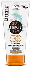 Parfüm, Parfüméria, kozmetikum Emulzió napozáshoz SPF 50+, gyerekeknek - Lirene Sun Natura Kids Protective Emulsion SPF50+