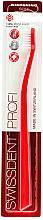 Parfüm, Parfüméria, kozmetikum Fogkefe, lágy, piros - SWISSDENT Profi Whitening Soft